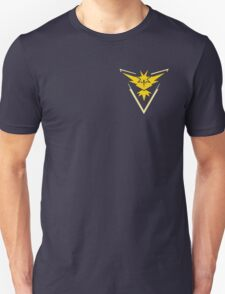 Pokemon Go | Team Instinct | Black Background | Small | New! | High Quality! Unisex T-Shirt