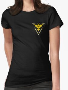 Pokemon Go | Team Instinct | Black Background | Small | New! | High Quality! Womens Fitted T-Shirt