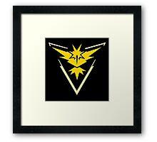 Pokemon Go | Team Instinct | Black Background | Small | New! | High Quality! Framed Print