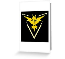 Pokemon Go | Team Instinct | Black Background | Small | New! | High Quality! Greeting Card