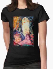GOLDEN DREAM / Yoga Meditation Zen Garden Womens Fitted T-Shirt