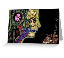 psychedelic smoke  Greeting Card