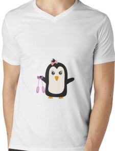 Penguin dancer   Mens V-Neck T-Shirt