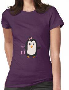 Penguin dancer   Womens Fitted T-Shirt