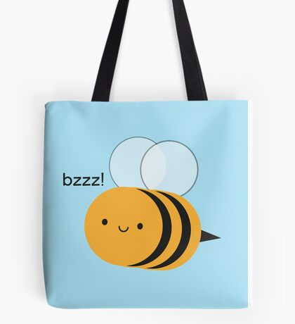 Kawaii Buzzy Bumble Bee Tote Bag