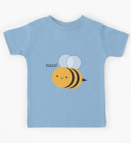 Kawaii Buzzy Bumble Bee Kids Tee