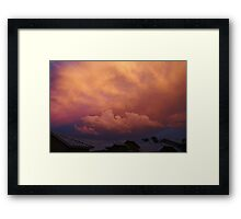 Color Storm Framed Print