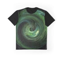 Emerald Vortex Graphic T-Shirt