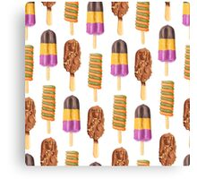 Frozen Sweets & Treats Popsicle Pattern Canvas Print