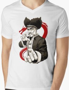 MASTER IRON HANDS Mens V-Neck T-Shirt