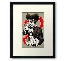 MASTER IRON HANDS Framed Print