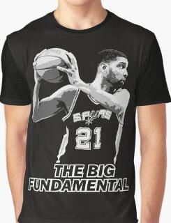 TIM DUNCAN - THE BIG FUNDAMENTAL Graphic T-Shirt