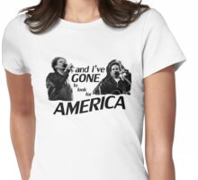 Simon & Garfunkel-America Womens Fitted T-Shirt