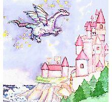 Fairytale Dragon Castle  Photographic Print