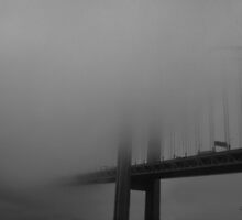 Verrazano Bridge in Fog by Gilda Axelrod