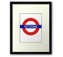 Fandom Tube- TATOOINE Framed Print