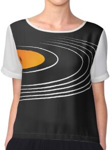 Music Retro Vinyl Record  Chiffon Top