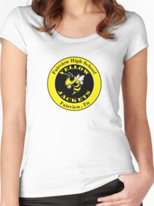 Fairview High School Yellow Jacket Women's Fitted Scoop T-Shirt