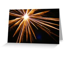 Burst, Honor, Thanks! Freedom! Celebration; We honor you for your service! We are grateful for our freedom! USA  Greeting Card
