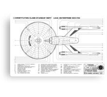 USS Enterprise (NCC-1701) Canvas Print