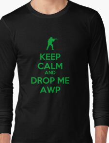 Counter Strike keep calm awp Long Sleeve T-Shirt
