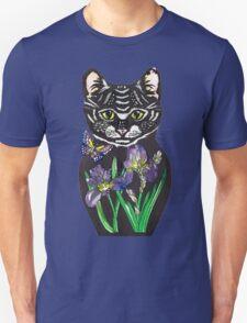 Iris, tattoo style cat head russian doll Unisex T-Shirt