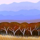 IPad Art- Distant Hills by Georgie Sharp