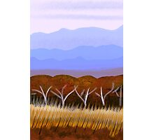 IPad Art- Distant Hills Photographic Print