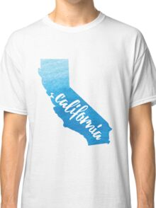 California - blue watercolor  Classic T-Shirt