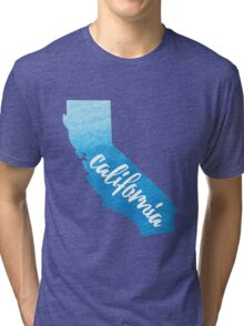 California - blue watercolor  Tri-blend T-Shirt