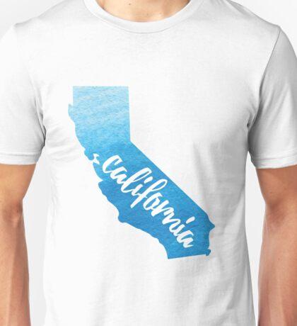 California - blue watercolor  Unisex T-Shirt