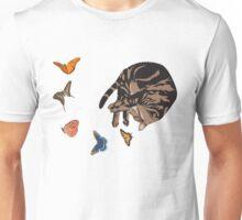 Sleeping Cat with Butterflies Unisex T-Shirt