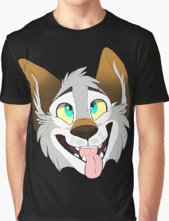 Happy Wolf Graphic T-Shirt