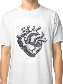 Human heart ink drawing Classic T-Shirt