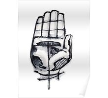 Human hand illustration Poster