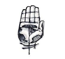 Human hand illustration Photographic Print