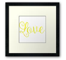 Love Framed Print