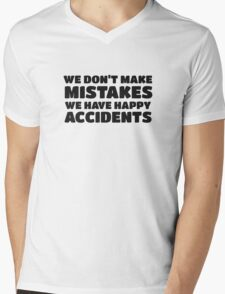 Bob Ross Cool Quote Happy Chill Peace Mens V-Neck T-Shirt