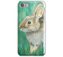 Cottontail Rabbit in a Meadow iPhone Case/Skin