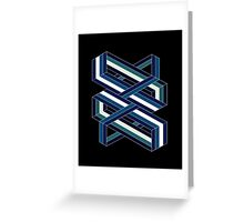 Isometric poetry - blue and green  Greeting Card
