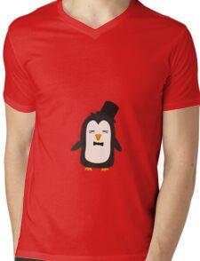 Penguin with suit   Mens V-Neck T-Shirt