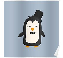 Penguin with suit   Poster