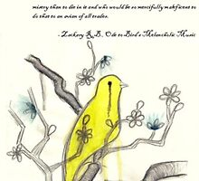 Ode to Bird's Melancholic Music (with original poem by Zackary Brownlee)  by Emma Whitehorn