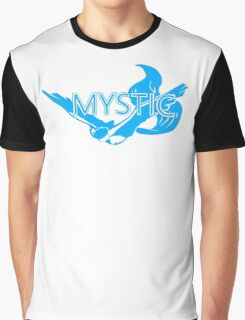 Stylized Team Mystic Print Graphic T-Shirt