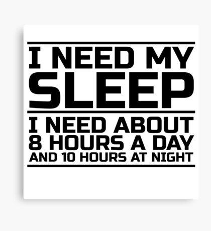 Sleep Lazy Cool Quote Funny Humor joke Canvas Print