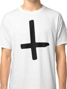 Black Inverted Cross Classic T-Shirt