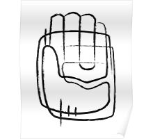 Human hand abstract illustration Poster