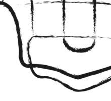 Human hand abstract illustration Sticker