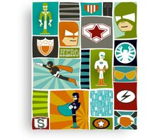 Comic Book Heroes Canvas Print