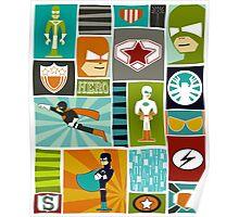 Comic Book Heroes Poster